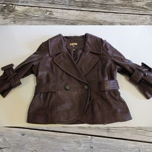 Vintage Wilson's Brown Leather Jacket Size L